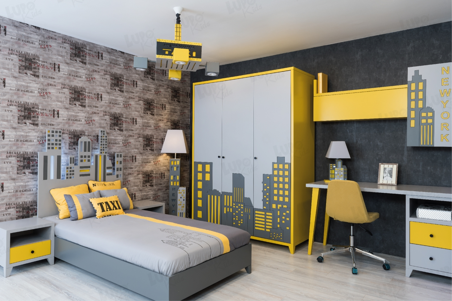Taxi Newyork Young Room Lupo Kids